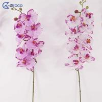 China Artificial flower 8 Heads PU Phalaenopsis Orchid on sale