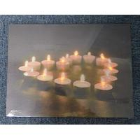 Buy cheap 9 Candle light led canvas art print from wholesalers