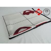 Buy cheap White baby air layer knitted blanket with red car pattern jacquard from wholesalers