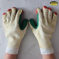 Buy cheap Double color film rubber coated work gloves from wholesalers