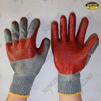 Buy cheap Red rubber palm and joint coated work gloves from wholesalers