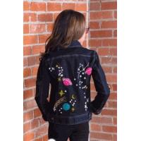 Buy cheap Limeapple Luna Embroidered beaded Galaxy Jean Jacket 7/8 10/12 from wholesalers