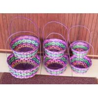 Buy cheap C-600 S/6 bamboo easter baskets w/handles from wholesalers