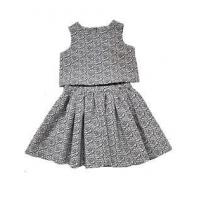 Buy cheap Pippa & Julie 2pc Little Girls Top & Skirt Set in Navy/White 4-6x from wholesalers