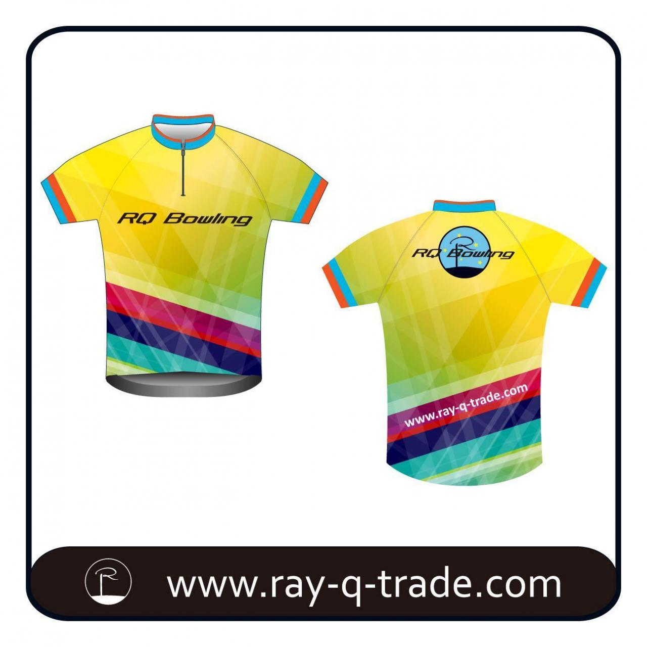 Buy cheap Bowling Bowling polo shirt Colorful Dye Sublimated Jersey Product No.:RQBO-001 from wholesalers