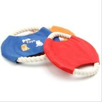 Buy cheap dog toy Pet frisbee with cotton rope from wholesalers