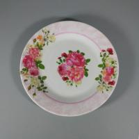 Buy cheap Certified Food Grade Melamine Dish Plate With Beauty Flower from wholesalers