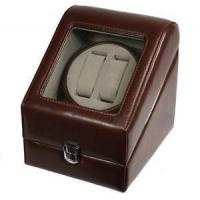 Buy cheap TOP QUALITY LEATHER AUTOMATIC DOUBLE WATCH WINDER BOX PI-BRN from wholesalers