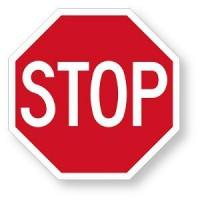 Buy cheap Stop Signs 4mm Corrugated Plastic Stop Sign Available In 4 Sizes 8, 12, 15 and 18 inch from wholesalers