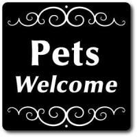 Buy cheap 8 x 8 Aluminum Sign with Yard Stake: Pets Welcome Sign from wholesalers