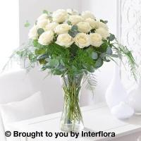 Buy cheap Elegant Ivory Rose Vase with 180g Maison Fougere Belgian Chocolate Dessert Selection from wholesalers