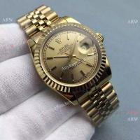 Buy cheap Copy Rolex Datejust Gold Jubilee Band Gold Dial Mens Watch 36mm from wholesalers