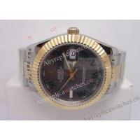 Buy cheap Fake Rolex Datejust II Two Tone Gray Dial Green Roman DJII 41mm Mens Watch from wholesalers