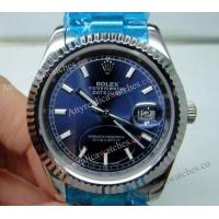 Buy cheap Fake Rolex Datejust SS Oyster Blue Dial 36mm Mens Design Watch from wholesalers