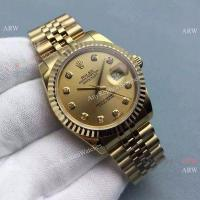 Buy cheap Fake Rolex Datejust Gold Jubilee Band / Gold Diamond Markers 36mm Watch from wholesalers
