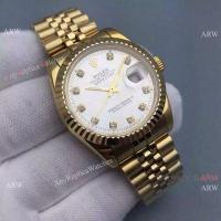 Buy cheap Knockoff Rolex Datejust Mens Watch Gold Jubilee Band Silver Dial 36mm from wholesalers