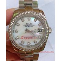 Buy cheap Replica Rolex Datejust SS Oyster White MOP Diamond Bezel 31mm Midsize Watch from wholesalers