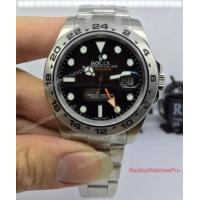 Buy cheap High Quality Noob Replica Rolex Explorer II 216570 42mm Watch Black Dial from wholesalers