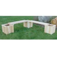 """Buy cheap Three 16"""" Cedar Planters & Two Benches product"""