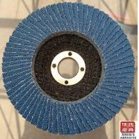Buy cheap 5''x7/8'' Premium Zirconia Flap Disc Grinding Wheel, 80 Grit Type27-10 Pack from wholesalers