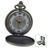Buy cheap Freemason Antique-Styled Brass Finish Pocket Watch With Masonic Symbols-Pocket Watches from wholesalers