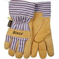 Buy cheap Kinco Pigskin Leather HeatKeep Thermal Knit Wrist Work Gloves (Tan/BLUE)-Safety Work Gloves from wholesalers