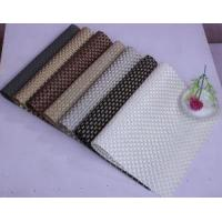 Buy cheap 8x8 Weave Golden Tablemats Good Quality Hotel Luxury Party Placemat from wholesalers