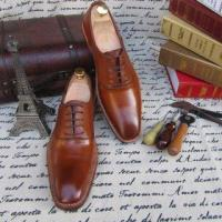 Buy cheap SKP04-Genuine Leather Luxury Wedding Shoe for Man Brown Color from wholesalers