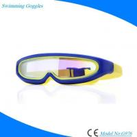 Buy cheap One-piece Scratch Resistant Silicone Swimming Glasses with Antifog Mirrored Lens from wholesalers
