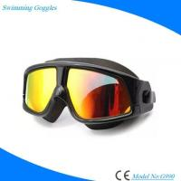 Buy cheap Fashion Silicone Half-face Swimming Glasses with Antifog UV Protection from wholesalers