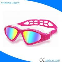 Buy cheap Colorful Antifog Mirrored Lens Silicone Swimming Goggles for Men Women Youth from wholesalers