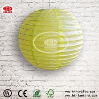 Buy cheap DECORATIVE LAMPSHADE Chinese wholesale yellow round paper lantern from wholesalers