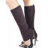Buy cheap Cable Knit Leg Warmers, Boot Socks - Charcoal from wholesalers