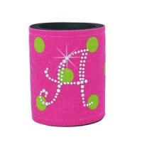 Buy cheap Rhinestone Monogram Coolies - Pink & Lime Polka Dots from wholesalers