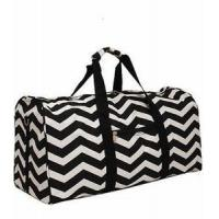 Buy cheap Monogrammed Chevron Print Duffle Bag - Black & White Chevron from wholesalers
