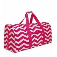 Buy cheap Monogrammed Chevron Print Duffle Bag - Pink & White Chevron from wholesalers