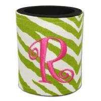 Buy cheap Preppy Monogrammed Coolies - Zebra Print from wholesalers