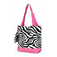 Buy cheap Zebra Print Monogrammed Tote Bag from wholesalers