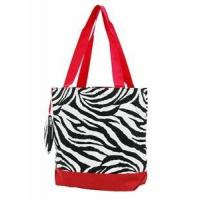 Buy cheap Zebra Print Monogrammed Tote Bag - Red from wholesalers