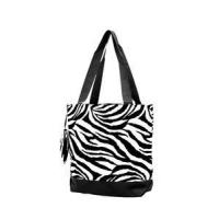 Buy cheap Zebra Print Monogrammed Tote Bag - Black from wholesalers