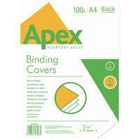 Fellowes Apex Black Leatherboard Covers A4 (100 Pack) 6501001
