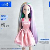 Buy cheap Korea heat resistant fiber Colorful rainbow doll wigs for 18inch american doll from wholesalers