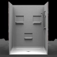 Buy cheap BestBath Barrier Free Shower PKG  Five piece 60 48  8 inch Tile Look from wholesalers