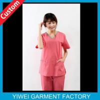 Buy cheap Cute Pink Custom Hospital Uniforms For Nurse from wholesalers
