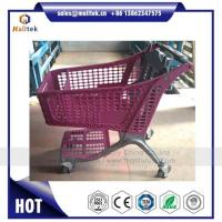 Buy cheap Plastic Supermarket Shopping Trolley Cart for Retail Grocery Store with Coin Lock from wholesalers