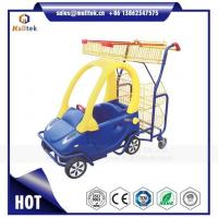 Buy cheap Kids Supermarket Plastic Shopping Trolley Cart for Retail Grocery Store for Children from wholesalers