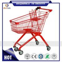 Buy cheap Metal Supermarket Shopping Cart Trolley for Retail Grocery Store with Coin Lock from wholesalers