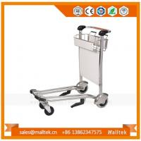 Buy cheap Stainless Steel Airport Baggage Trolley Cart For Luggage With Hand Brake from wholesalers