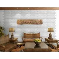 Buy cheap sofa background adhesive cheap faux white brick wall panels from wholesalers