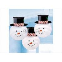 """Buy cheap Commercial Handmade Paper Christmas Ornaments 8 10 12"""" , Snowman With Hat Shaped from wholesalers"""